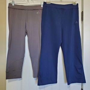 Adidas capris pants.  2 pair.  Size M
